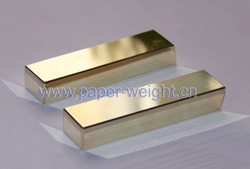 gold plated tungsten paperweight